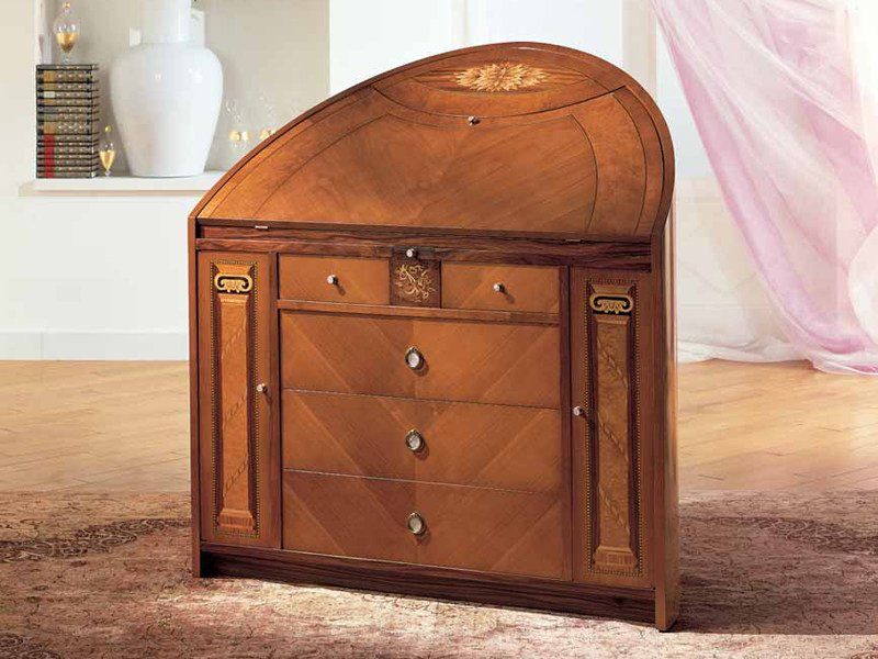 Neoclassical style cherry wood chest of drawers TRUMEAU NEOCLASSICO by Carpanelli Classic