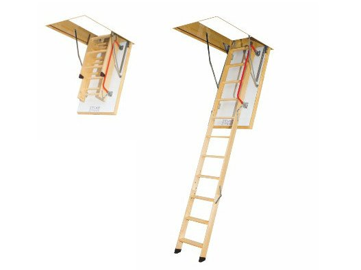 Wooden loft ladder LTK THERMO by FAKRO