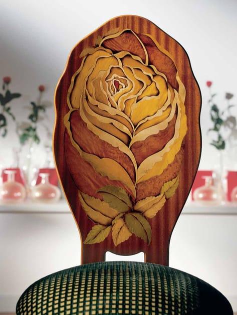 Mahogany chair ROSA GIALLA by Carpanelli Classic