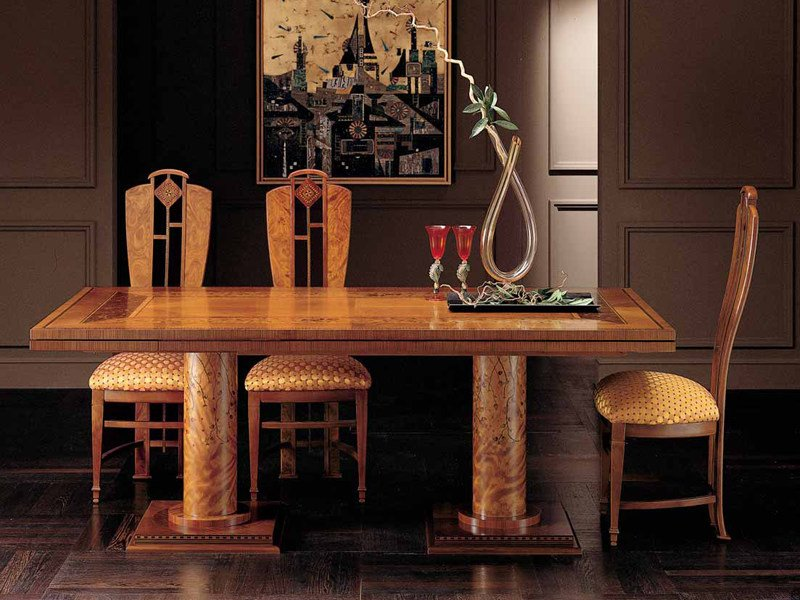 Extending rectangular cherry wood dining table AURORA | Extending table by Carpanelli Classic