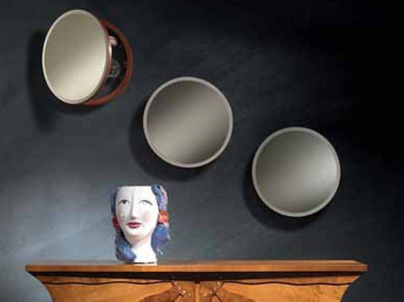 Round mirror with cabinet OBLÒ by Carpanelli Classic