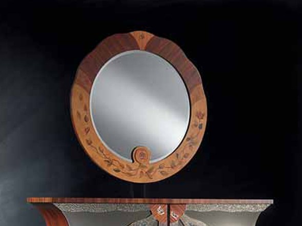 Round framed mirror PALISSANDRO | Mirror by Carpanelli Classic