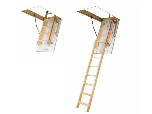Wooden loft ladder LDK by FAKRO