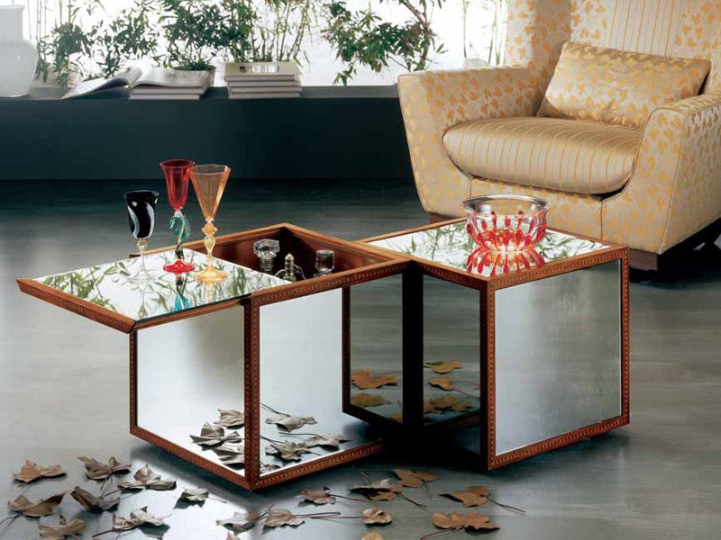 Coffee table for living room IL CUBO by Carpanelli Classic