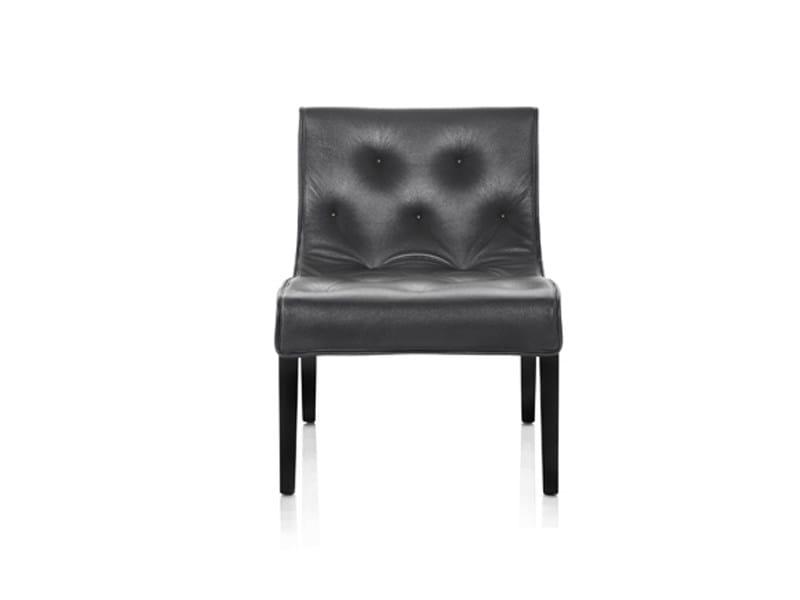 Leather armchair with armrests LESLIE | Armchair by Wittmann
