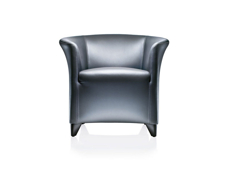 Upholstered leather armchair AURIANA | Armchair by Wittmann