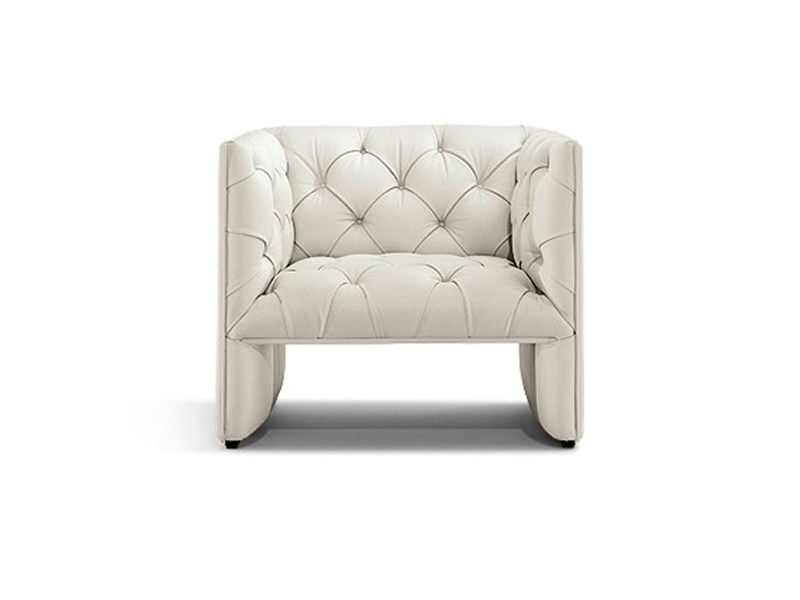 Upholstered leather armchair EDWARDS | Armchair by Wittmann