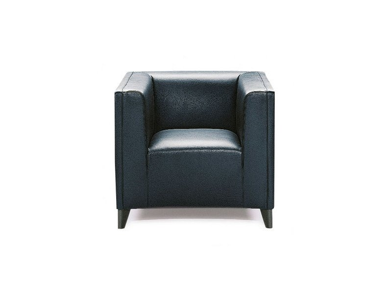 Upholstered leather armchair with armrests DUCALE | Armchair by Wittmann