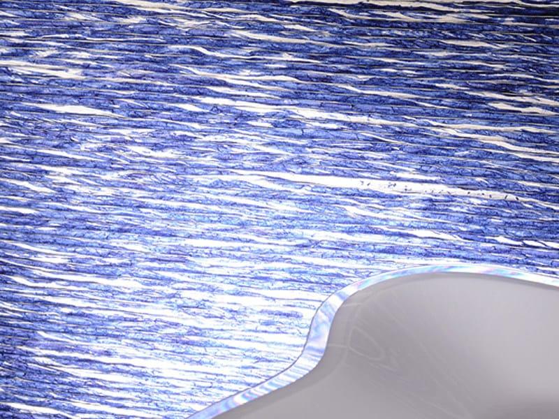 Paper yarn wall tiles ROPPONGI by Élitis