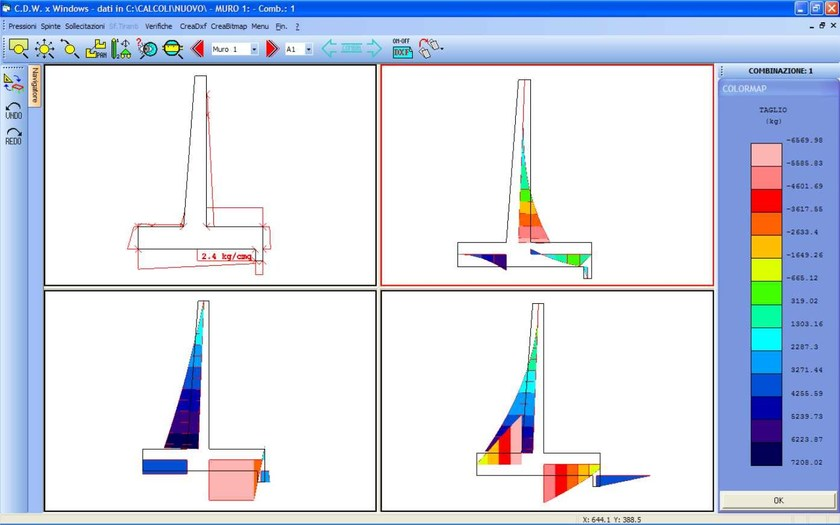 CDW Win Diagramma sollecitazioni interne