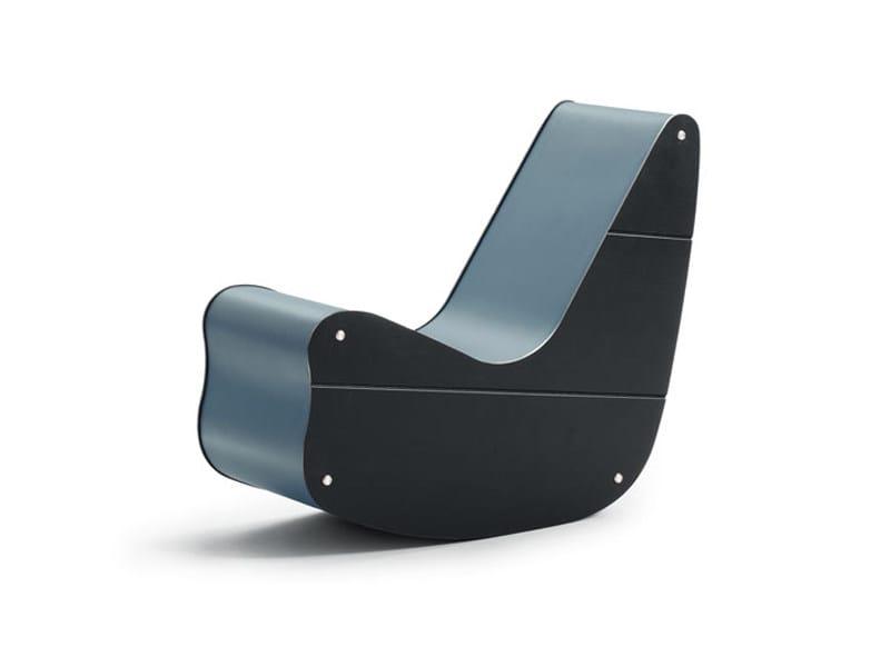 Rocking armchair CORREALISTIC ROCKER by Wittmann