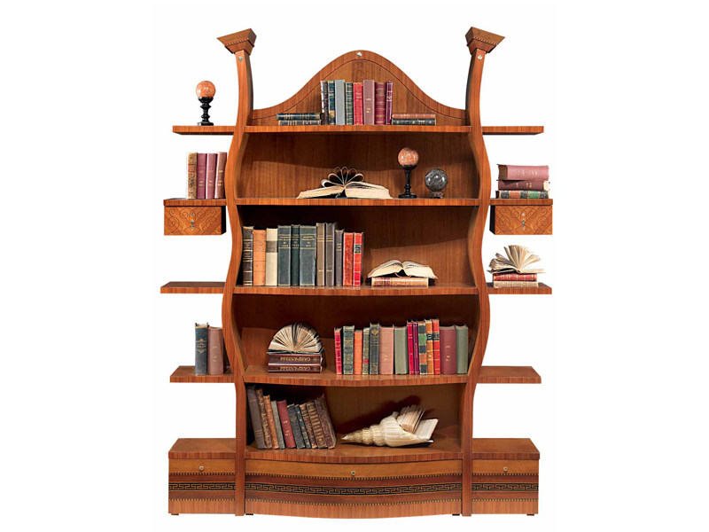 Walnut bookcase FLOREALE | Bookcase by Carpanelli Classic