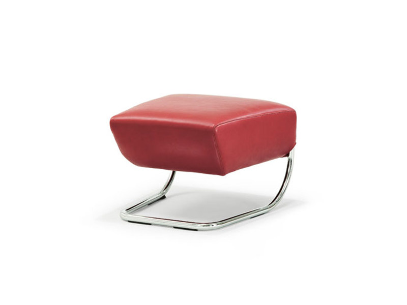 Leather footstool JOLLY | Footstool by Wittmann