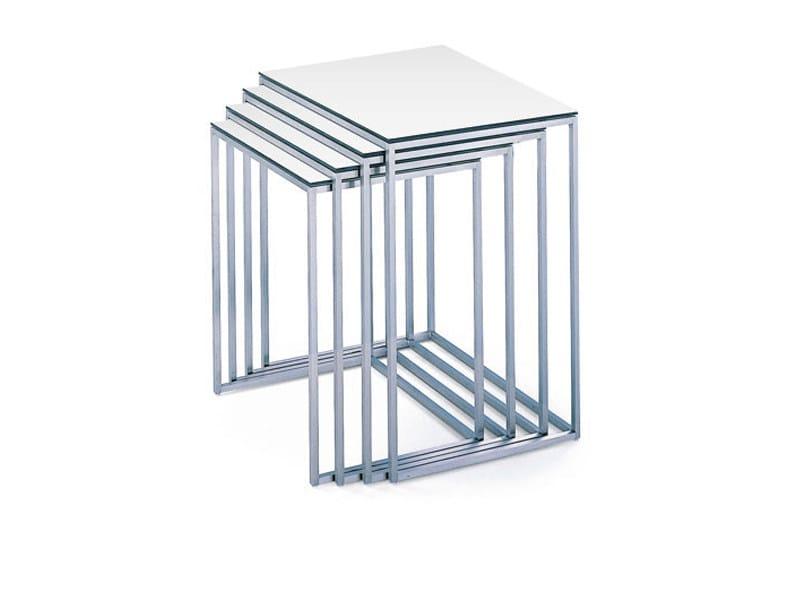 Steel coffee table KYOTO SATZTISCHE by Wittmann