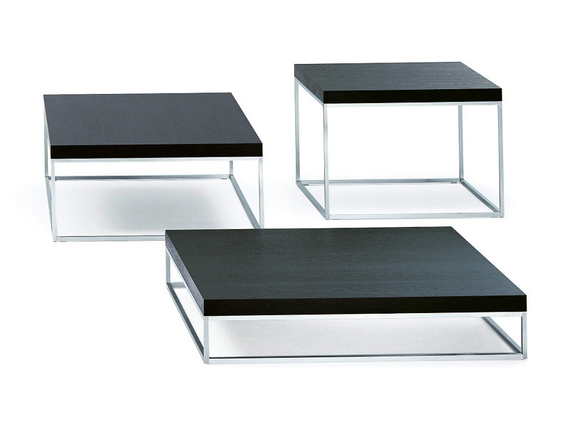 Low wooden coffee table MADISON SQUARE by Wittmann