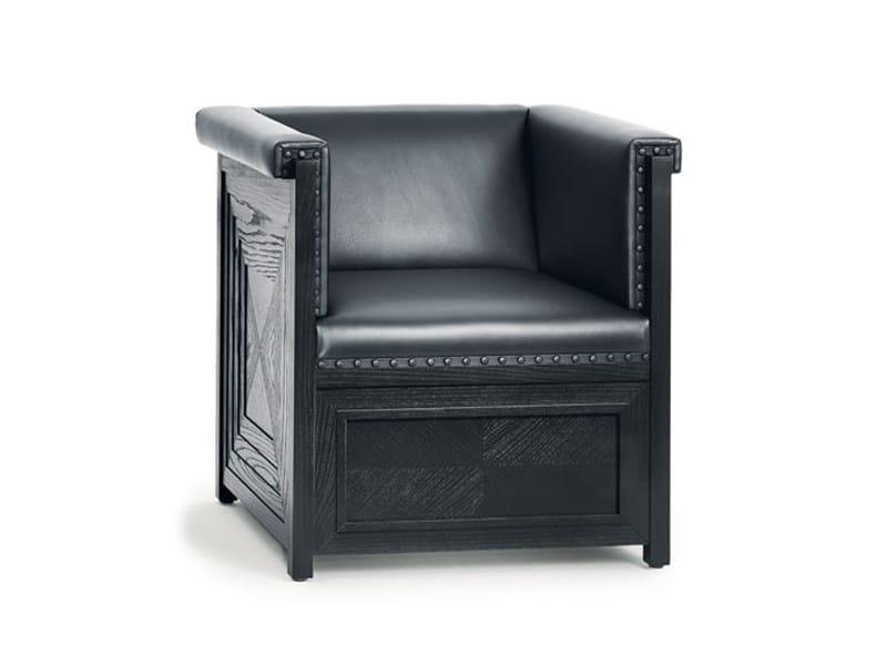 Upholstered armchair MUSIKZIMMER PURKERSDORF by Wittmann