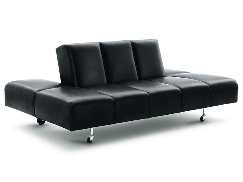 Recliner leather sofa PARTY LOUNGE by Wittmann