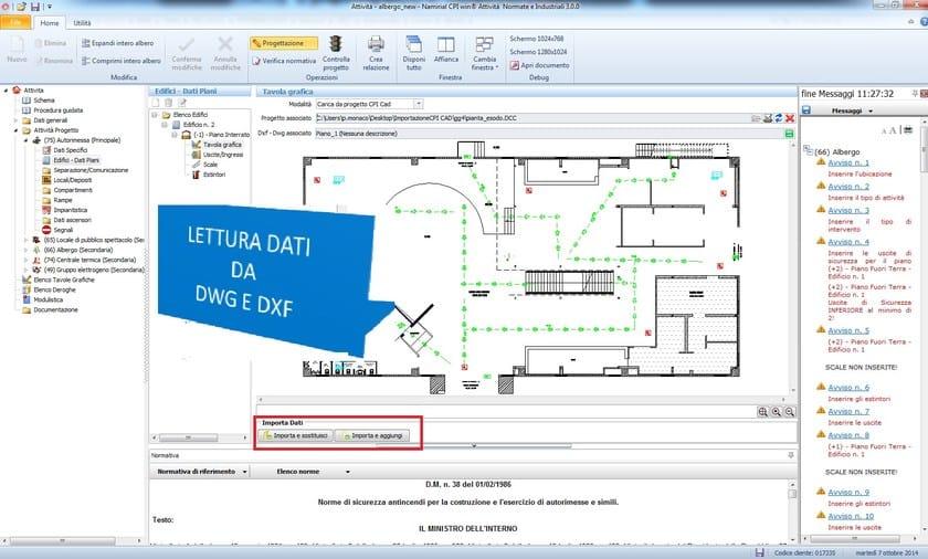 CPI WIN®Attività CPI win® Attività - Lettura automatica dei dati da CPI CAD
