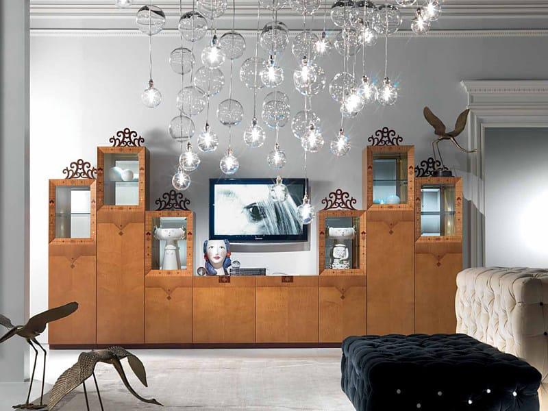 Modular crystal highboard with doors DALÌ   Highboard by Carpanelli Classic