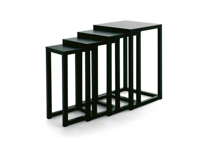 Stackable wooden coffee table TABLES HOFFMANN by Wittmann