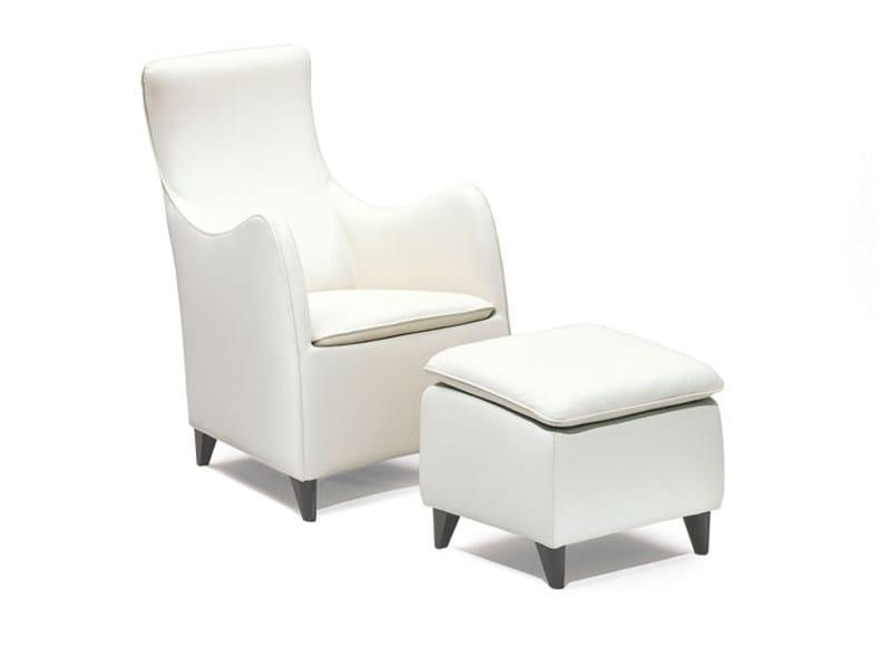 Armchair with footstool SENTA | Armchair by Wittmann