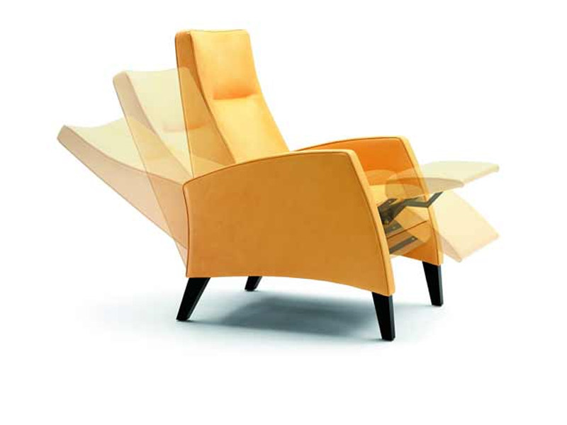 Recliner armchair with footstool SILENTO by Wittmann