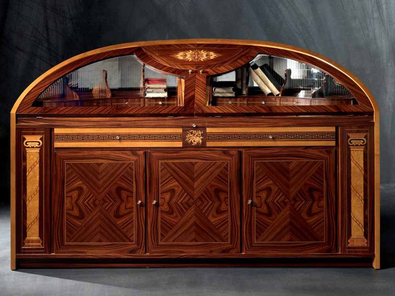 Wooden highboard with doors HERMITAGE   Highboard by Carpanelli Classic