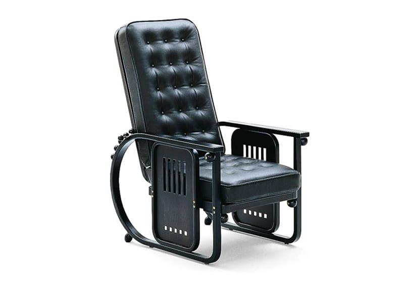 Upholstered recliner armchair SITZMASCHINE by Wittmann