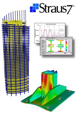 Finite element (FEM) structural resolver Straus7 - BASE by HSH
