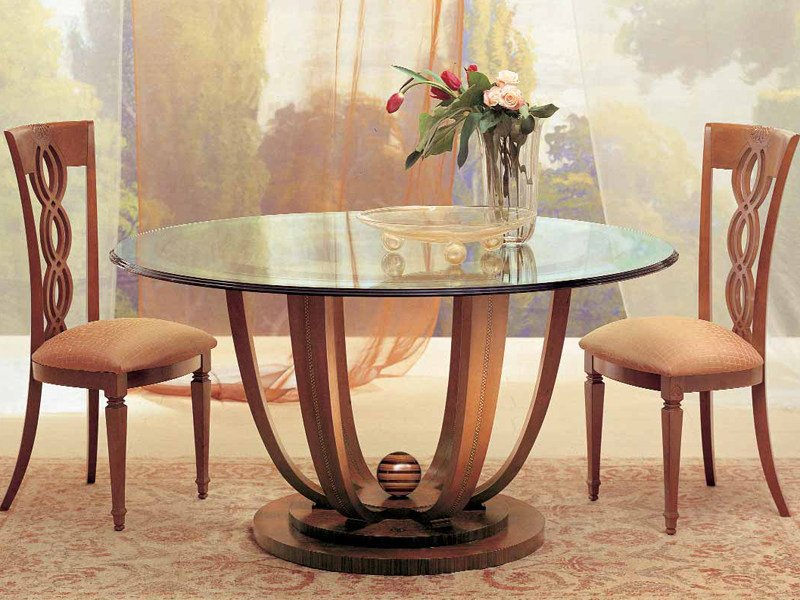 Round crystal table PRIMAVERA by Carpanelli Classic