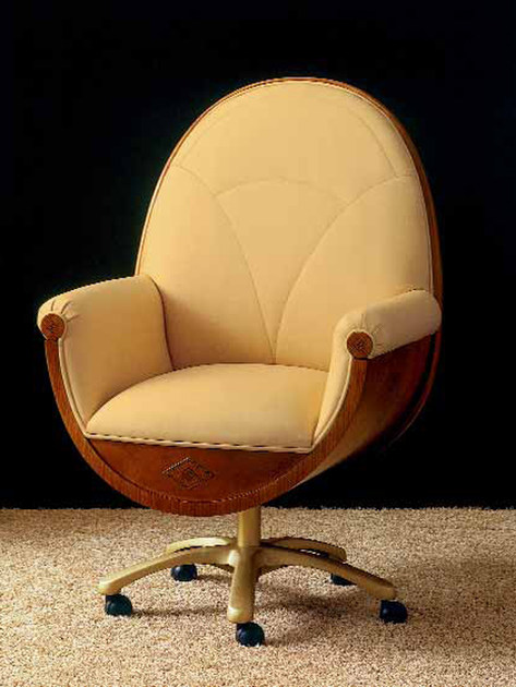 Swivel upholstered chair GRAN CONFORT by Carpanelli Classic