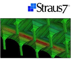 Calculation of composite structure and FRP reinforcement Straus7 - MODELLAZIONE DI MATERIALI COMPOSITI by HSH
