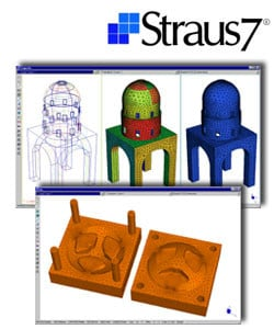 CAD-integrated structural calculation software Straus7 - MESHATORE AUTOMATICO by HSH