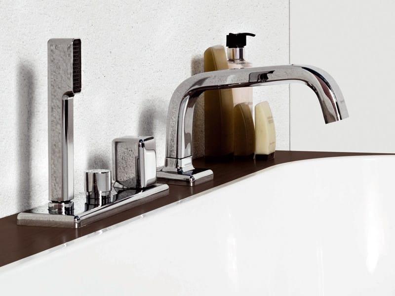 4 hole bathtub set with hand shower FARAWAY | Bathtub set by ZUCCHETTI
