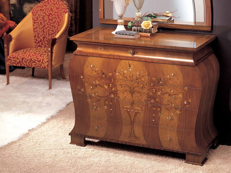 Solid wood chest of drawers FLOREALE | Chest of drawers by Carpanelli Classic