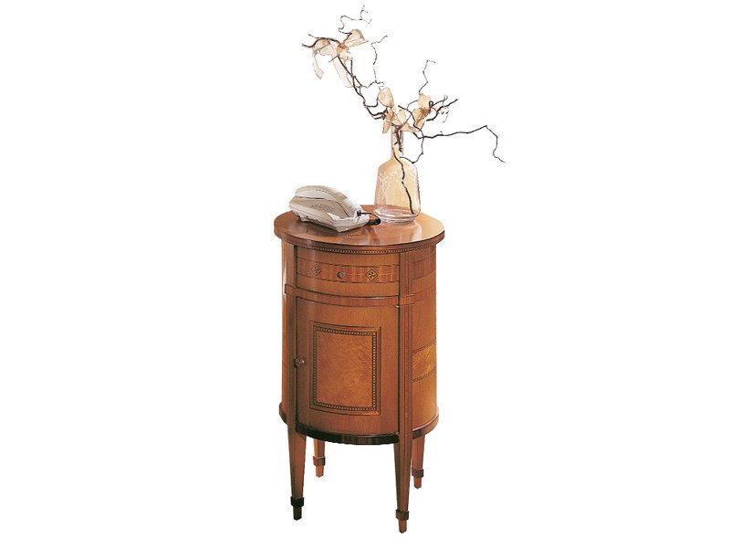 Round bedside table with drawers AURORA | Bedside table by Carpanelli Classic