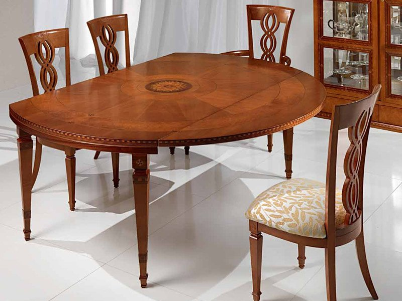 Wooden dining table I CAPITELLI by Carpanelli Classic