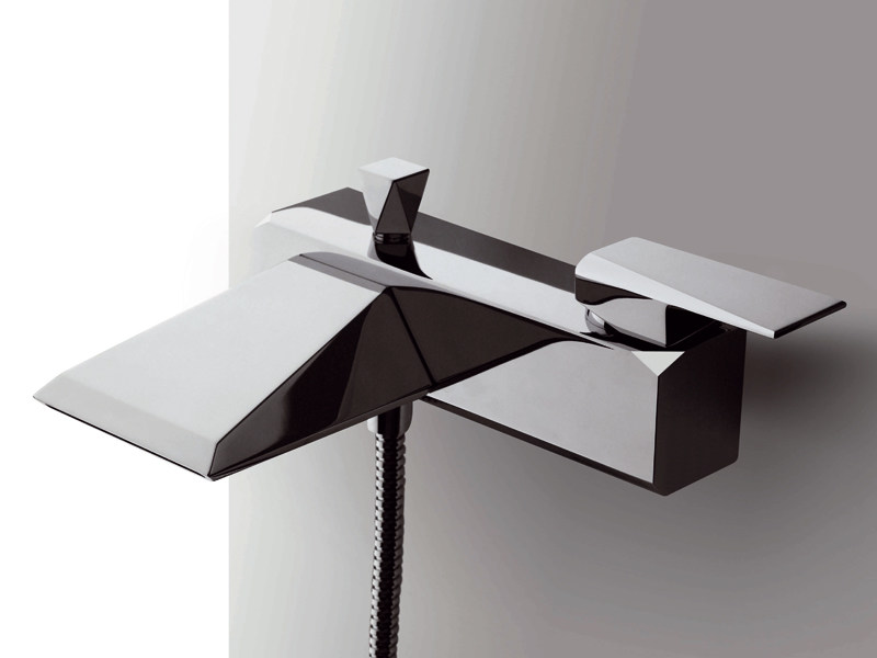 Wall-mounted bathtub mixer with hand shower WOSH | Wall-mounted bathtub mixer by ZUCCHETTI