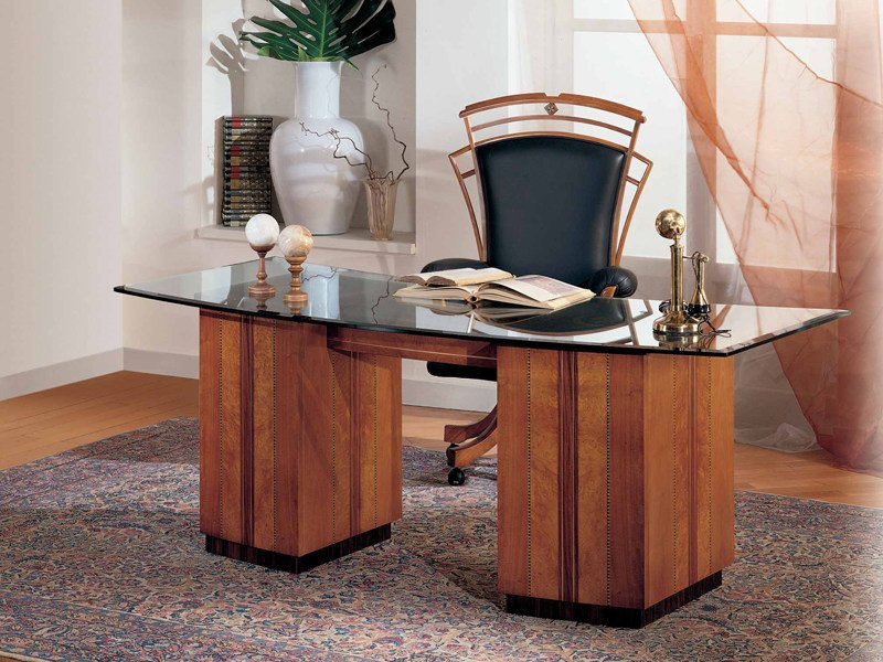 Crystal writing desk with drawers Writing desk by Carpanelli Classic
