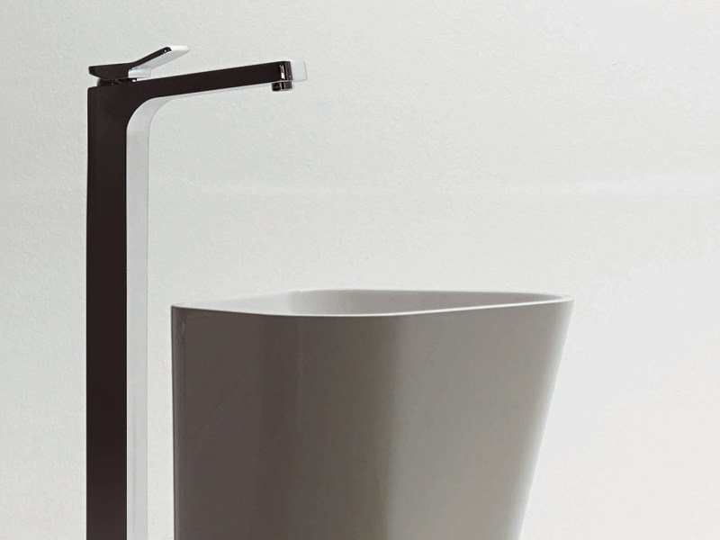 Chrome-plated floor standing washbasin mixer SOFT | Floor standing washbasin mixer by ZUCCHETTI