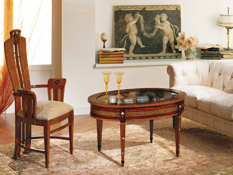 Oval coffee table BACHECA by Carpanelli Classic