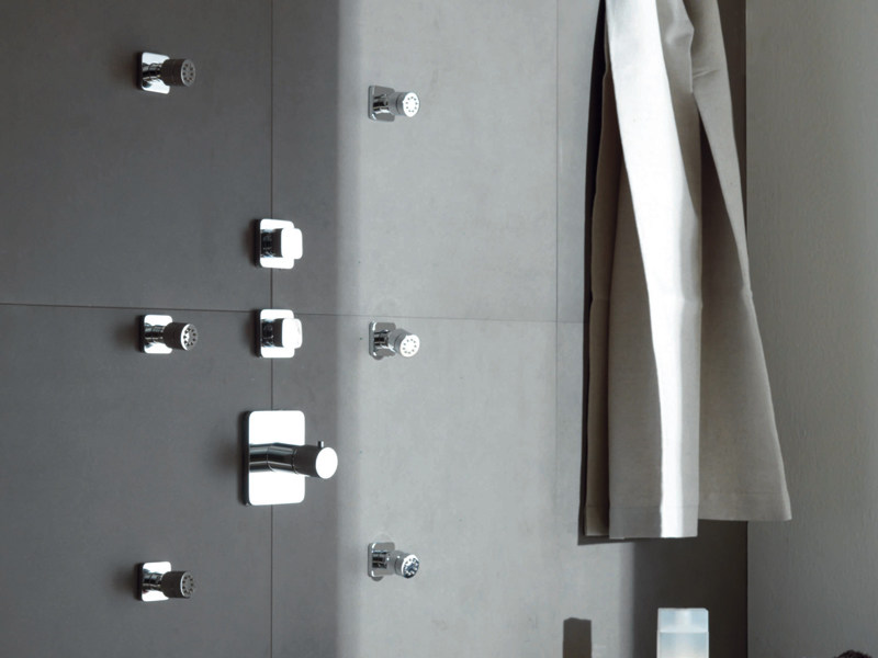 Chrome-plated thermostatic shower mixer SOFT | Thermostatic shower mixer by ZUCCHETTI
