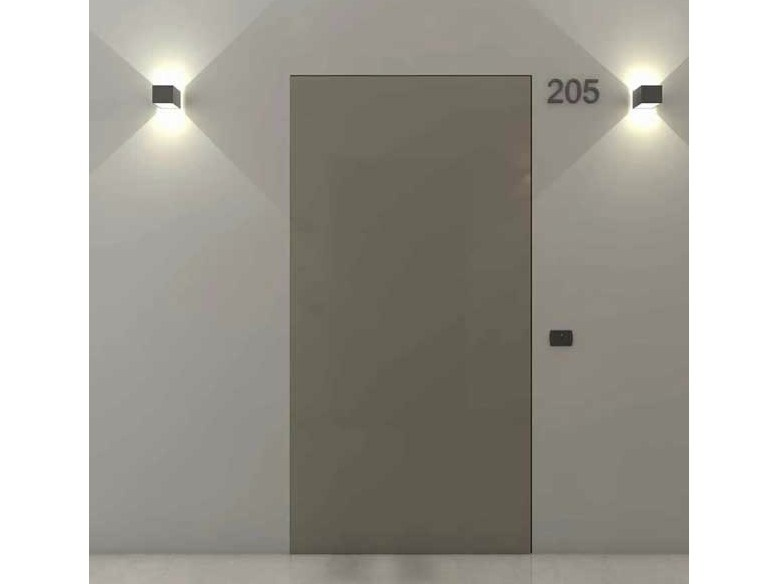 Hinged flush-fitting lacquered door FILOMURO PLANET EI30 by ADIELLE