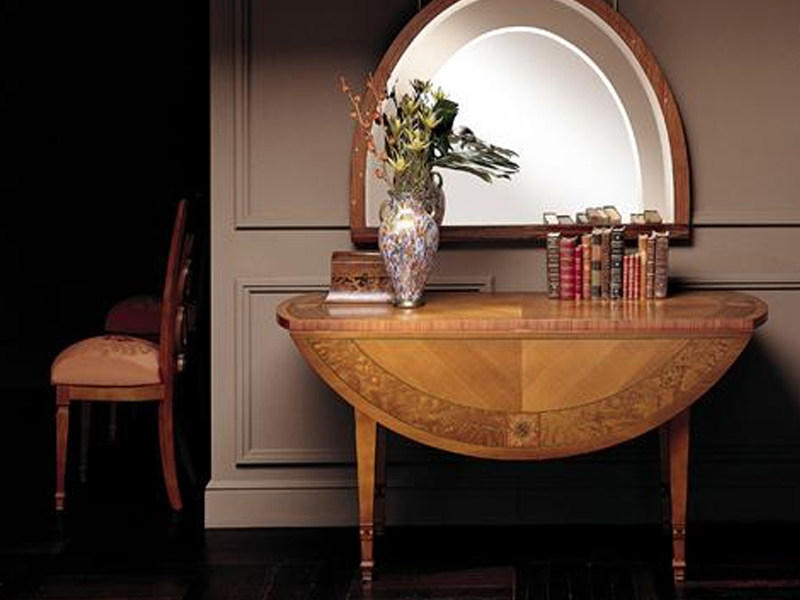 Classic style extending walnut console table AURORA | Console table by Carpanelli Classic