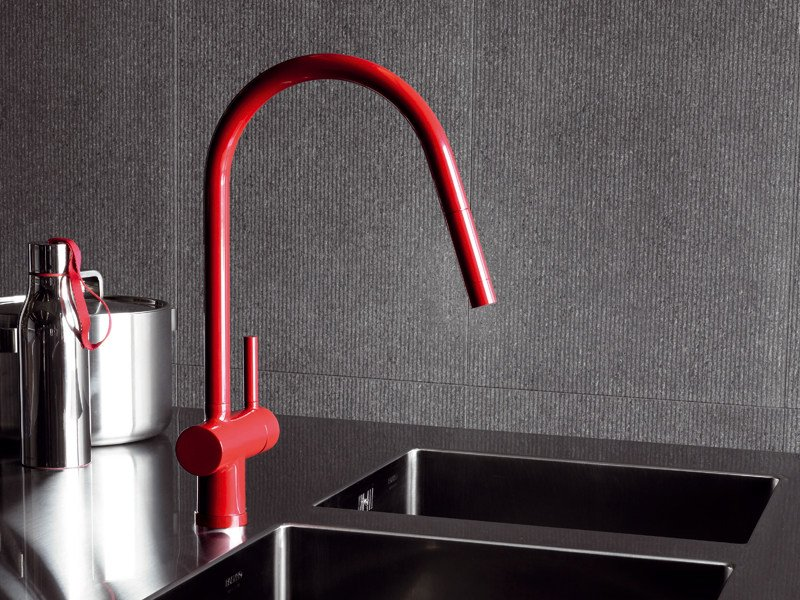 1 hole kitchen mixer tap with pull out spray PAN   1 hole kitchen mixer tap by ZUCCHETTI