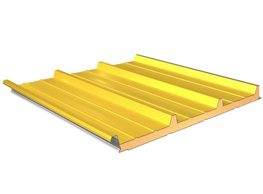 Insulated metal panel for roof TERMOCOPERTURE® TCP/C by ELCOM SYSTEM