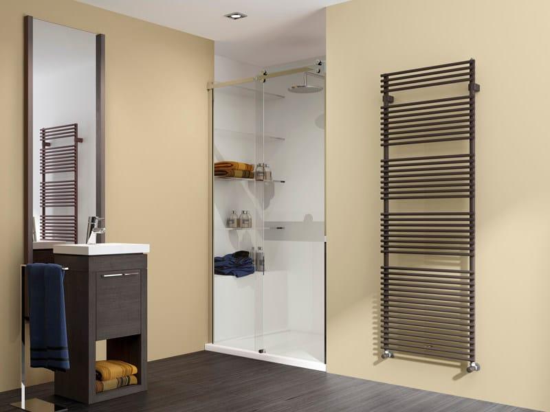 Vertical wall-mounted steel towel warmer FLAUTO | Towel warmer by IRSAP
