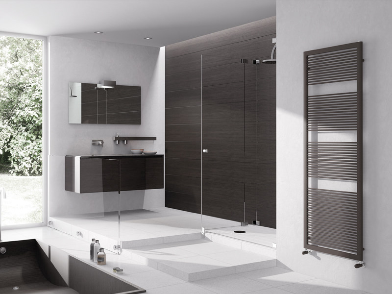 Wall-mounted steel towel warmer LIKE by IRSAP