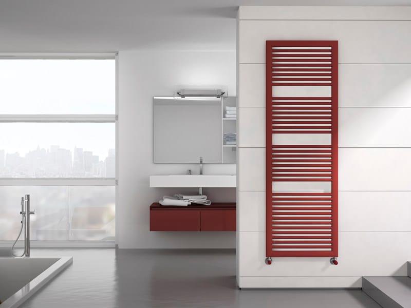 Vertical wall-mounted steel towel warmer NOVO CULT | Towel warmer by IRSAP