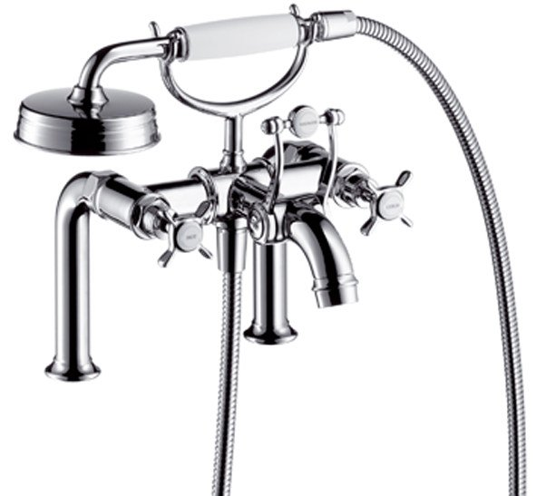 2 hole bathtub tap with hand shower AXOR MONTREUX | Bathtub tap by hansgrohe